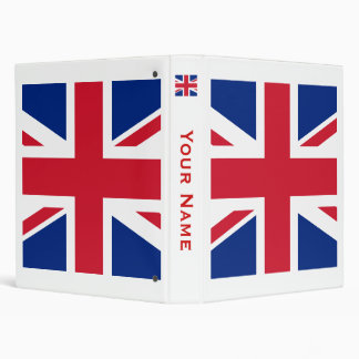 Union Jack 3 Ring Binder