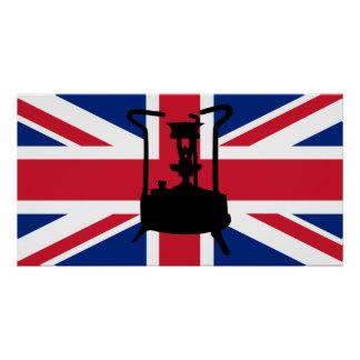 Union Jack and Paraffin pressure stove Poster