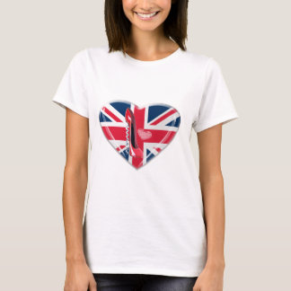 Union Jack and Red Corkscrew Stiletto T-Shirt