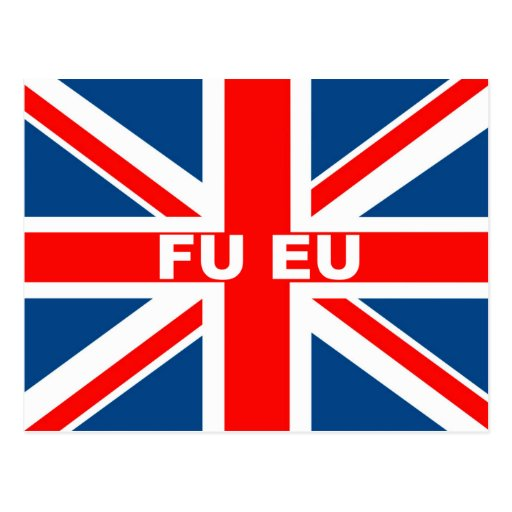 Union Jack anti EU Post Cards