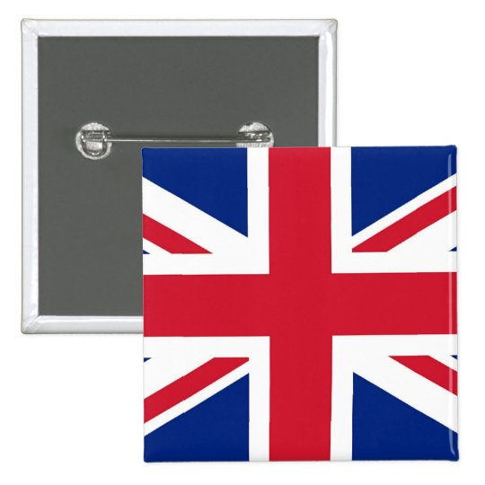 Union Jack - badge 2 Inch Square Button