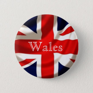 Union Jack Badge (Wales) 2 Inch Round Button