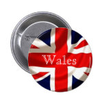 Union Jack Badge (Wales) Pinback Buttons