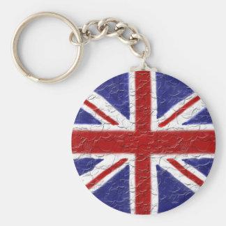 Union Jack Basic Round Button Keychain