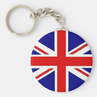 Union Jack Basic Round Button Keychain