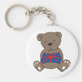 Union Jack Bear Keychain
