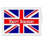 Union Jack Birthday card English flag