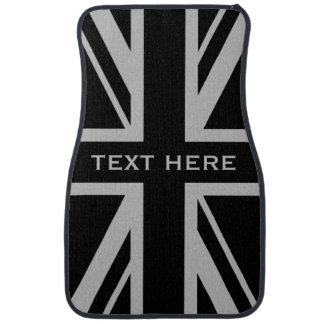 Union Jack | Black and Grey Car Floor Carpet
