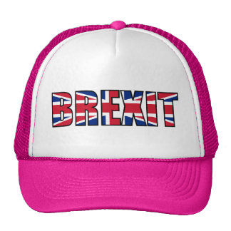 Union Jack Brexit, White Pink Trucker Hat