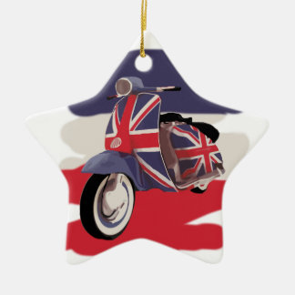 Union Jack Brit scooter Ceramic Ornament
