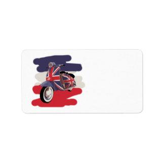 Union Jack Brit scooter Label
