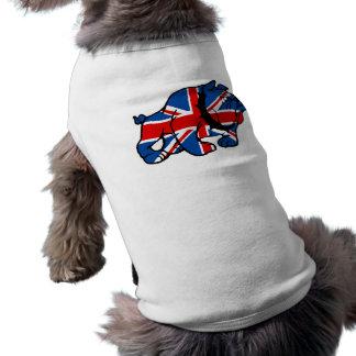 Union Jack British Bulldog Doggie Tshirt