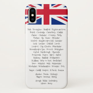 Union Jack British Cities Of the 4 Countries iPhone X Case