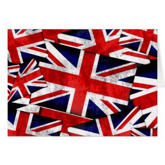 Union Jack British England UK Flag Card