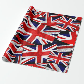 Union Jack British England UK Flag Wrapping Paper
