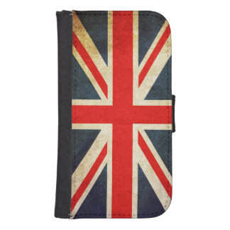 Union Jack British Flag Galaxy S4 Wallet Case