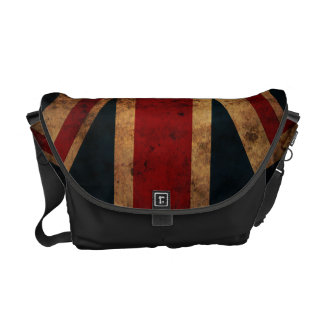 Union Jack (British Flag, grunge) Courier Bag