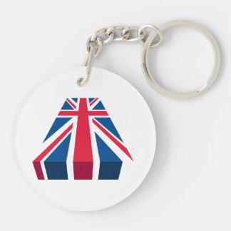 Union Jack, British flag in 3D Double-Sided Round Acrylic Keychain