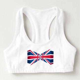 Union Jack, British flag in 3D Sports Bra