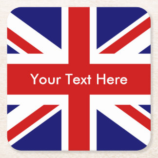 Union Jack British Flag Square Paper Coaster