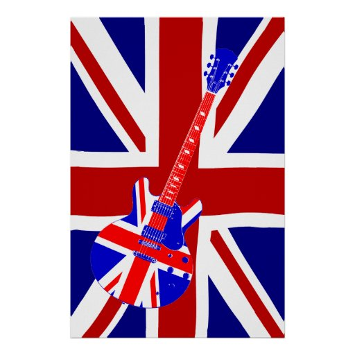 Union Jack British Guitar Art 2 Print