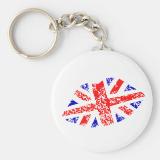 Union Jack British Kiss This! Keychain bagchain