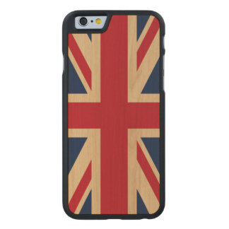 Union Jack British National Flag Carved Maple iPhone 6 Case