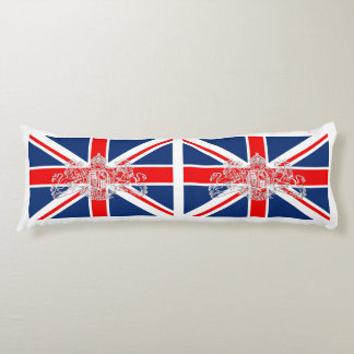 Union Jack British United Kingdom & Coat of Arms Body Pillow
