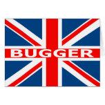 Union Jack bugger Greeting Card