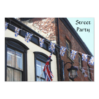Union Jack Buntings Invitation
