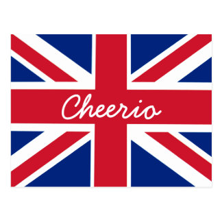 Union Jack Cheerio Postcard