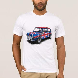 Union Jack Classic Mini Car on White T-Shirt