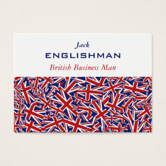 Union Jack Collage Business Card