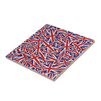 Union Jack Collage Tile