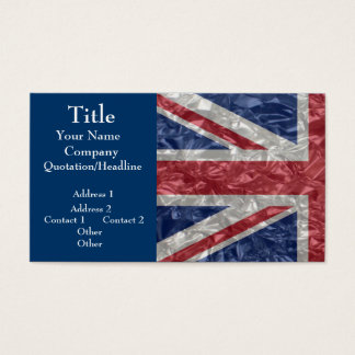 Union Jack - Crinkled Business Card