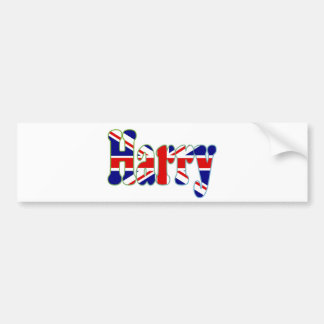 Union Jack cutout Harry Bumper Sticker