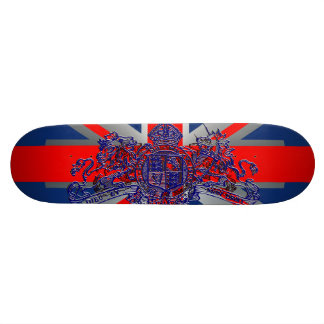 Union Jack Dieu et Mon Droit British Coat of Arms Skate Decks