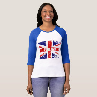 Union Jack Distressed England British Flag T-Shirt
