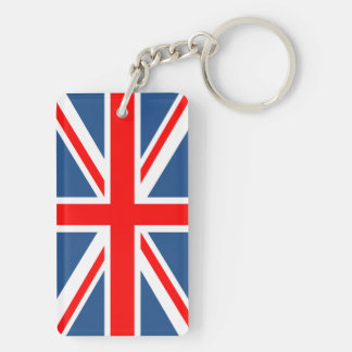 Union Jack Double-Sided Rectangular Acrylic Keychain