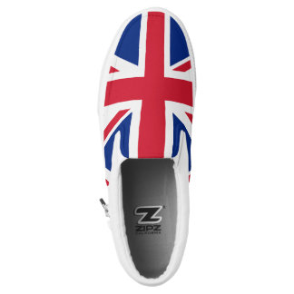 Union Jack England British Flag Slip On Sneakers