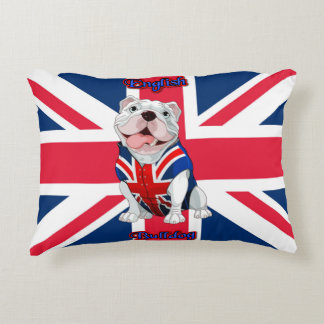 Union Jack English Bulldog Accent Pillow