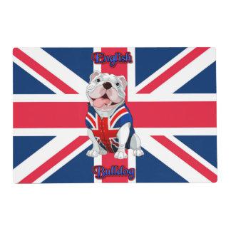 Union Jack English Bulldog Laminated Placemat