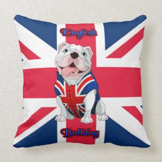 Union Jack English Bulldog Throw Pillow