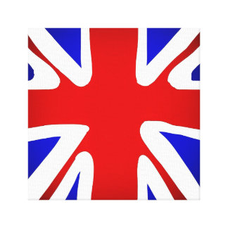 Union Jack Flag Art Canvas Print