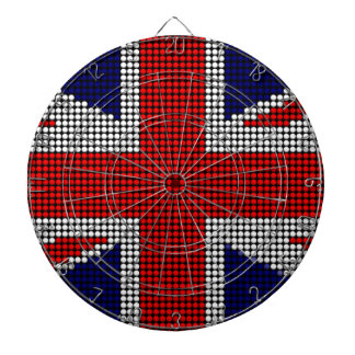 Union jack flag british flag dartboard