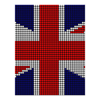 Union jack flag british flag letterhead