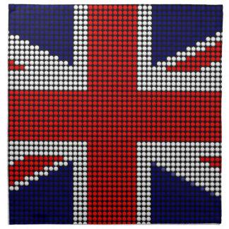 Union jack flag british flag napkin