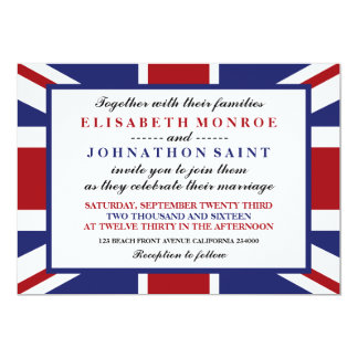 Union Jack Flag British Wedding Card