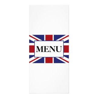 Union Jack Flag British Wedding Menu