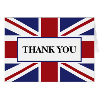 Union Jack Flag British Wedding Thank You Card